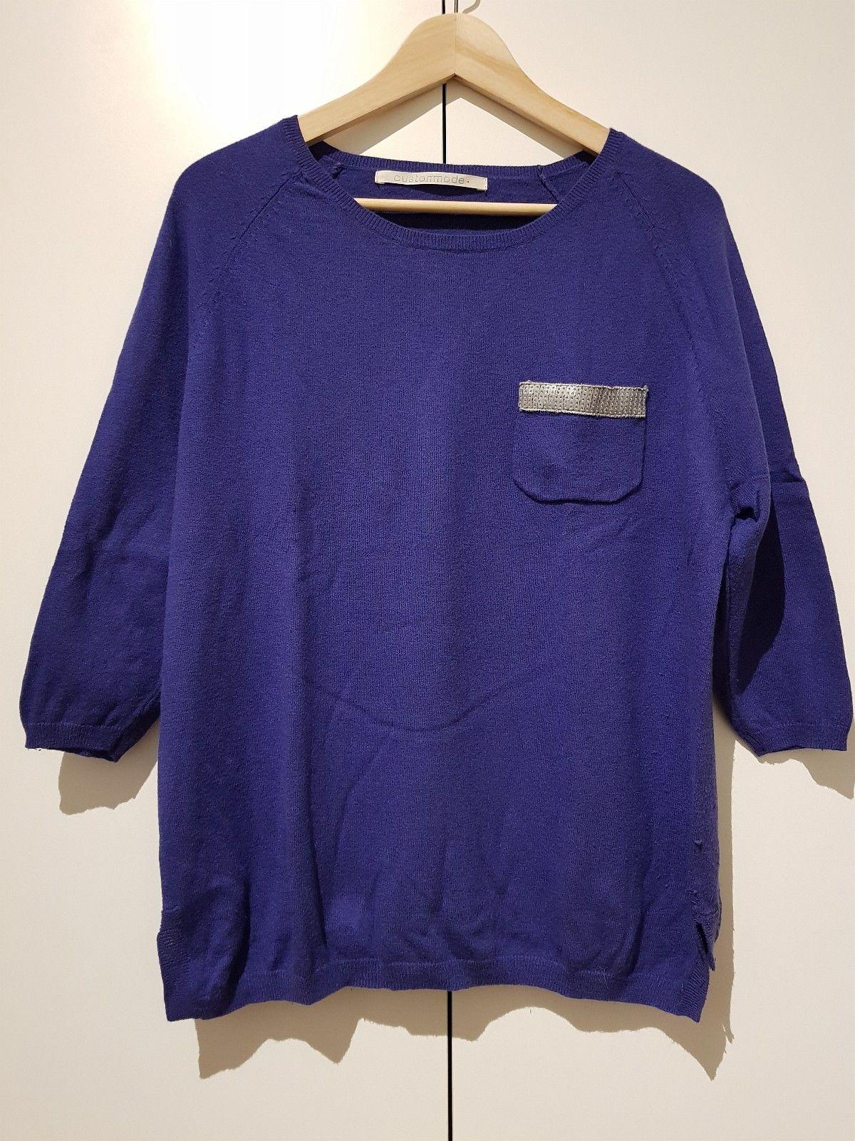 da270905 Blå genser CUSTOMADE størrelse M   FINN.no