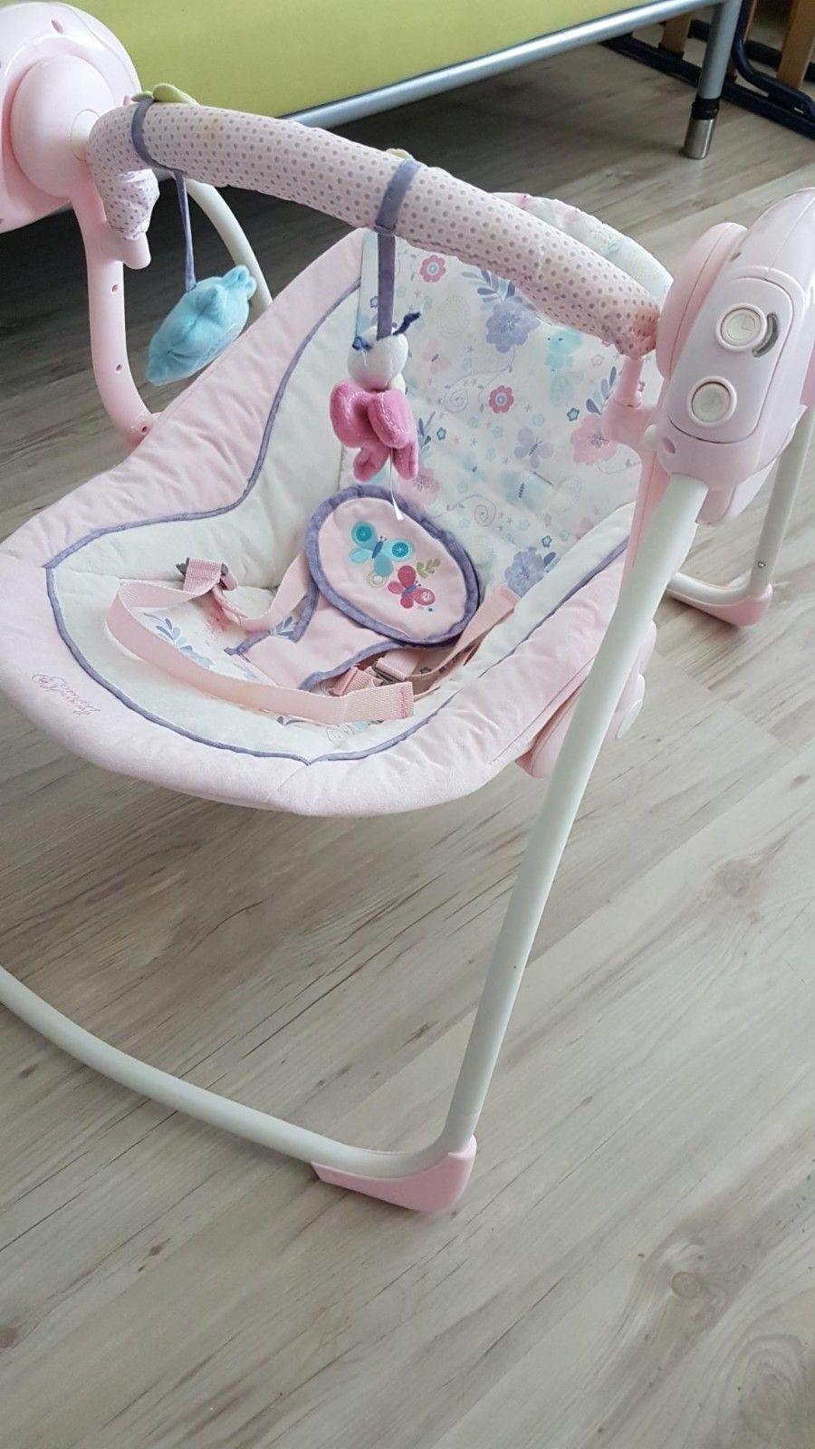 Vippestol Rosa Baby Gynge Med Musikk Til Jente Finnno