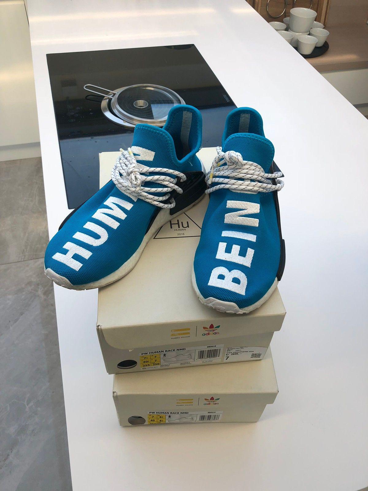 sports shoes 86e73 04839 Adidas Human Race Blå   FINN.no