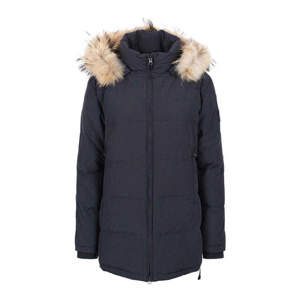 svea jakke med ekte pels hette