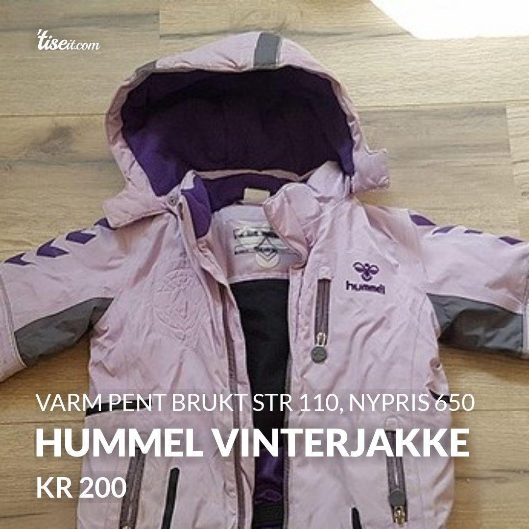 6e4c44dc HUMMEL varm dunjakke str 110 | FINN.no