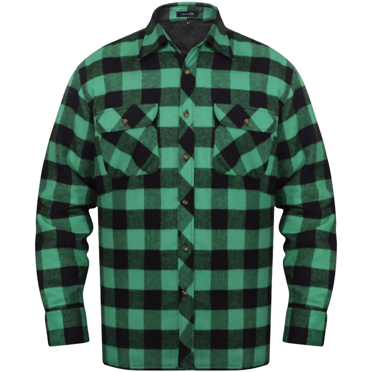 0f042d6d Herre polstret, rutete flanellskjorter, grønn/svart L (131001) | FINN.no