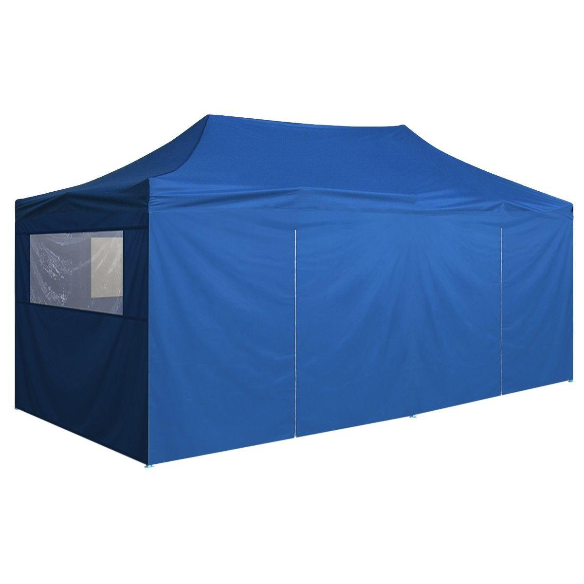 vidaXL Popup telt med 4 sidevegger 3x6 m Blå (42508) | FINN.no