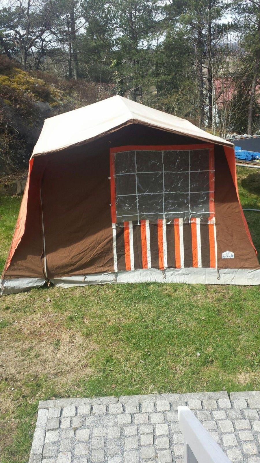 Hustelt retrotelt familietelt villatelt telte | FINN.no