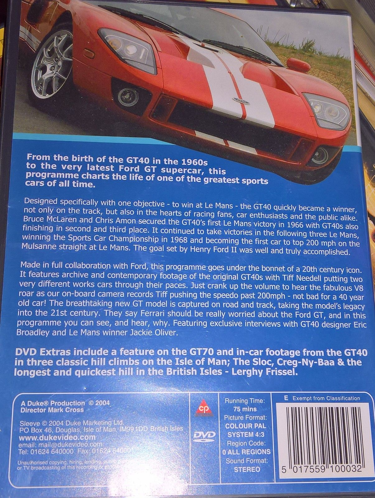 The Ford Gt40 Story Dvd 1960s Sports Cars 1 2