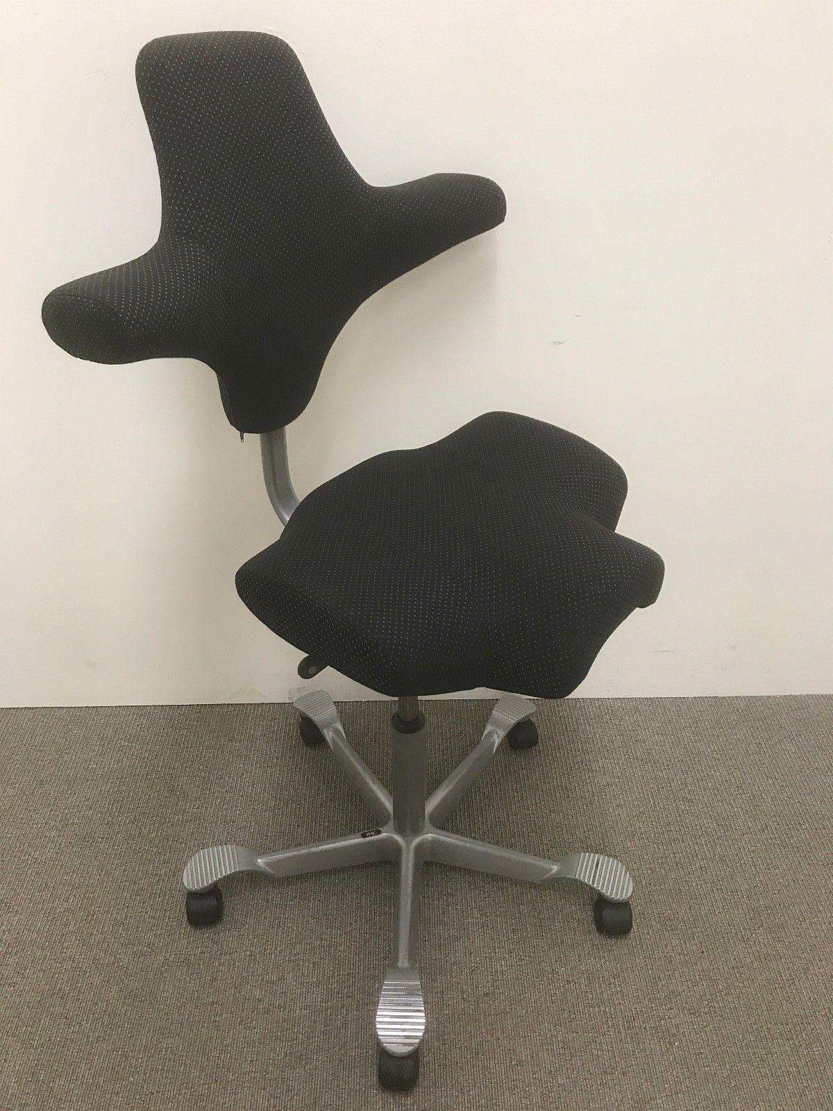 1 stk Håg Capisco kontorstol med sort trekk med prikker