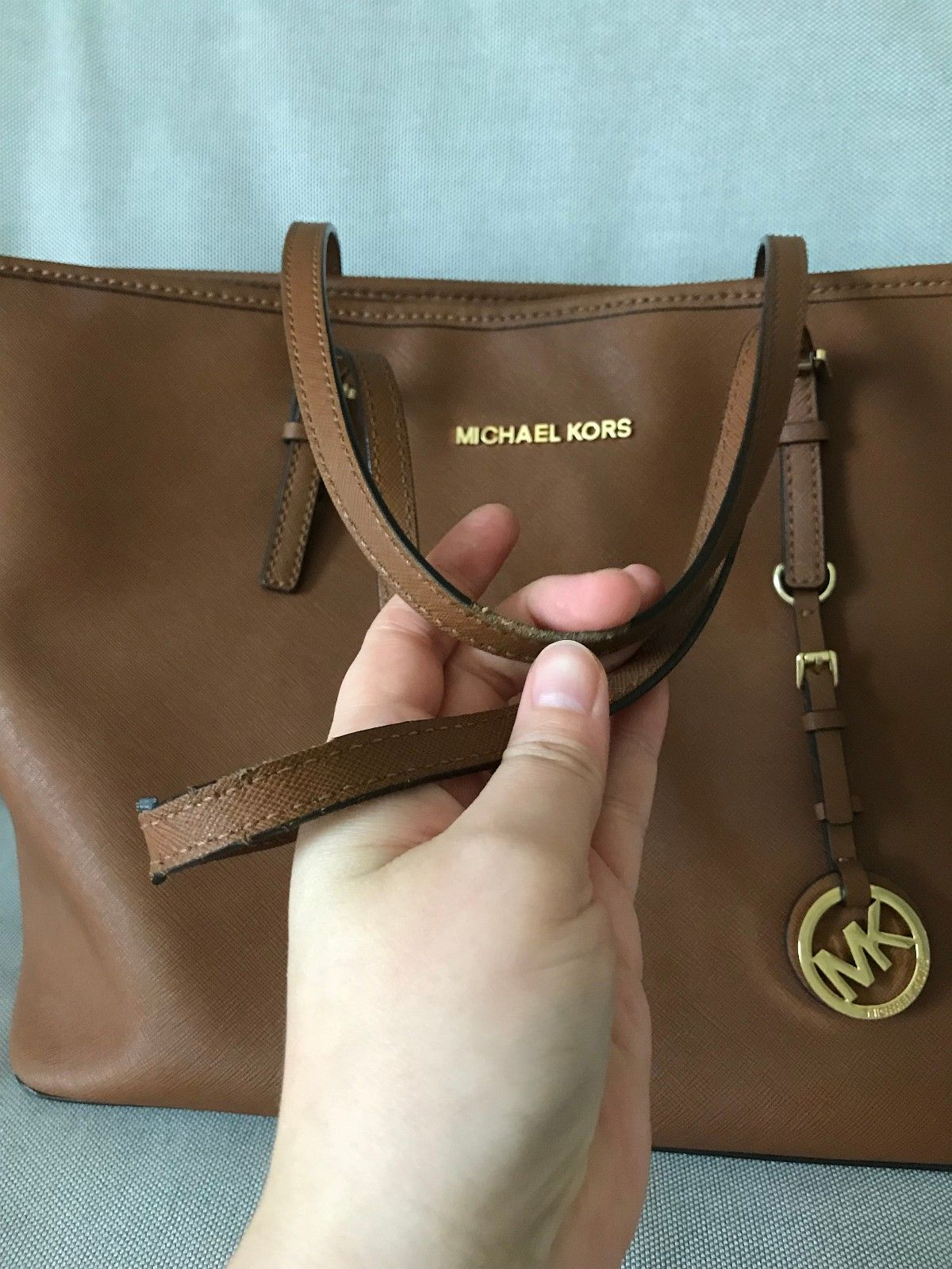 bc579ed0a Fantastisk Michael Kors Jet Set travel veske i brun | FINN.no