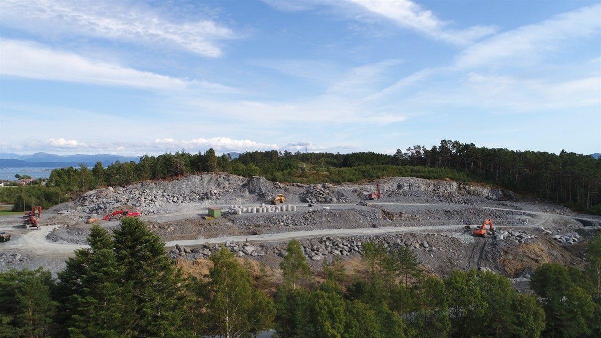 Dronefoto av området september