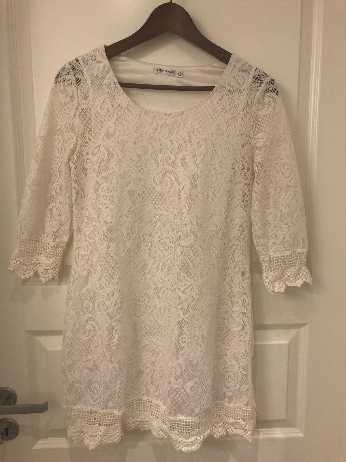 17434751 Hvit sommerkjole med lange armer | FINN.no