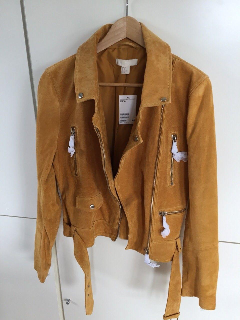 Semsket skinn jakke Kjøpe, selge og utveksle annonser de