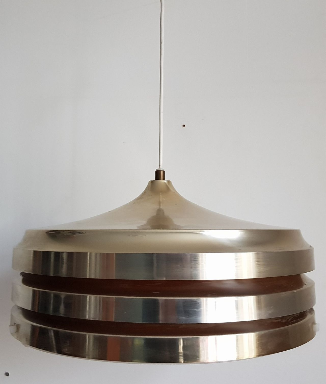 Knalltøff Stor Retrolampe I Messing. Retro   Vintage   Scandinavian Design!    Fredrikstad