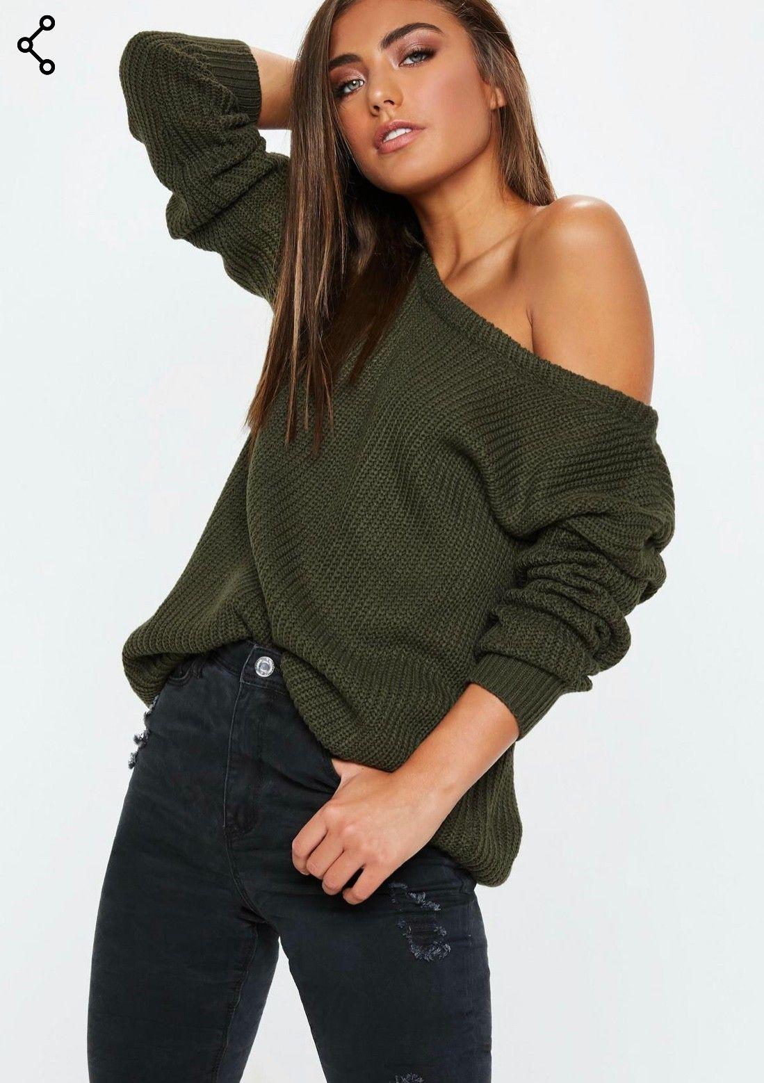 Ultra Off shoulder strikk genser, prislappen på S/M- gratis frakt   FINN.no MT-72