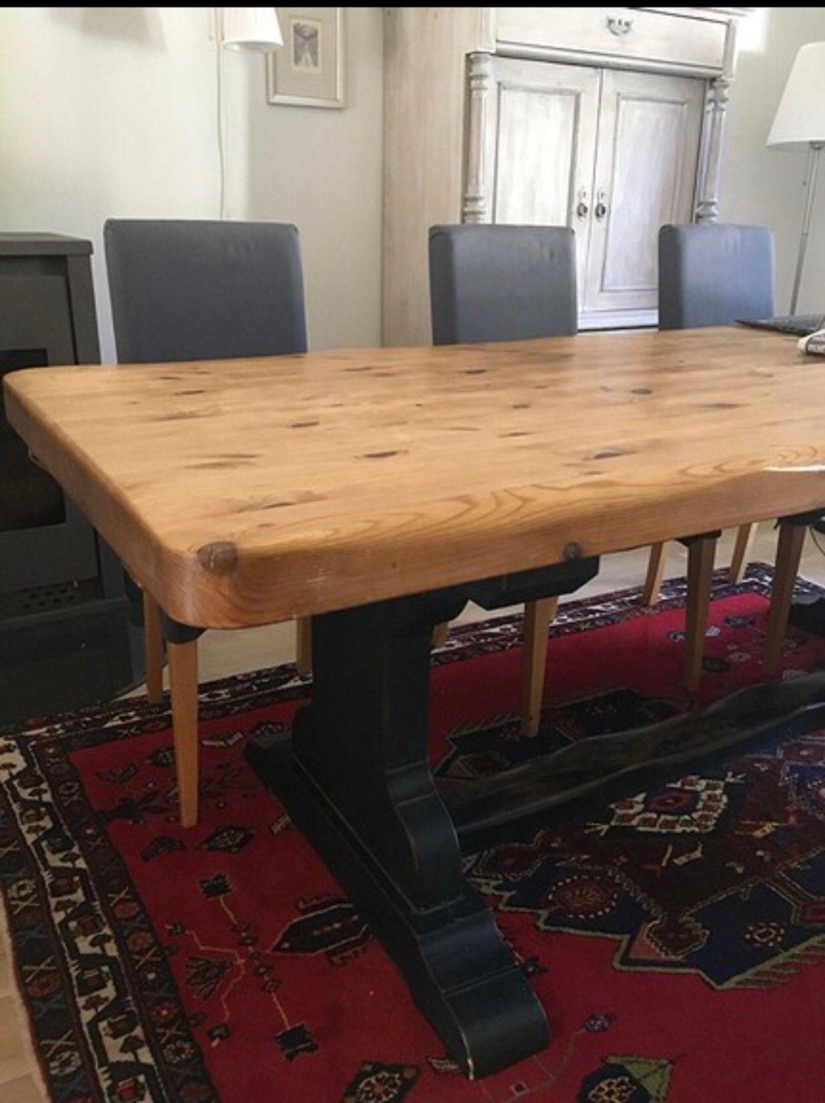 Spisebord rustikk heltre kan forlenges   FINN.no