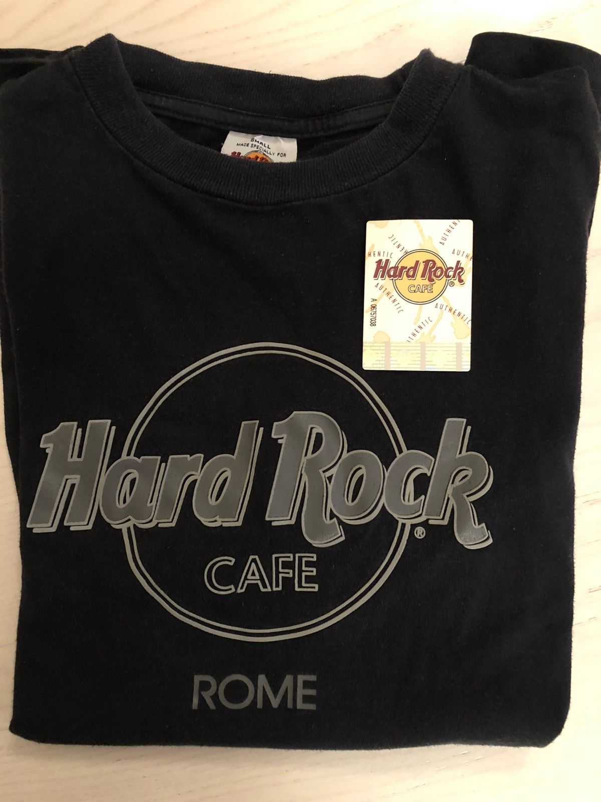 Hard Rock Cafe «Rome» t shirt. S. | FINN.no