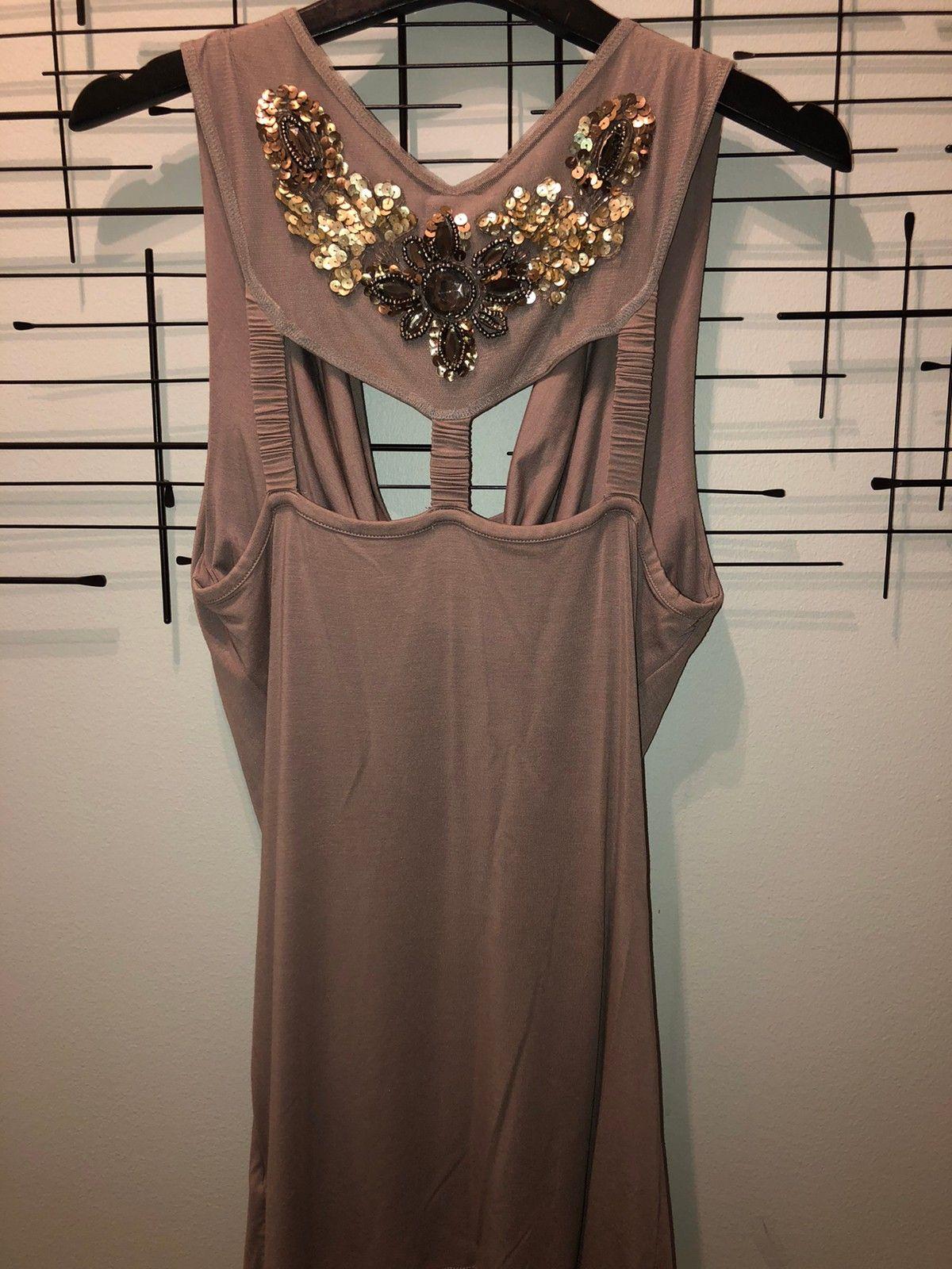 Nydelig Riccovero kjole beige, brun glitter fest jul