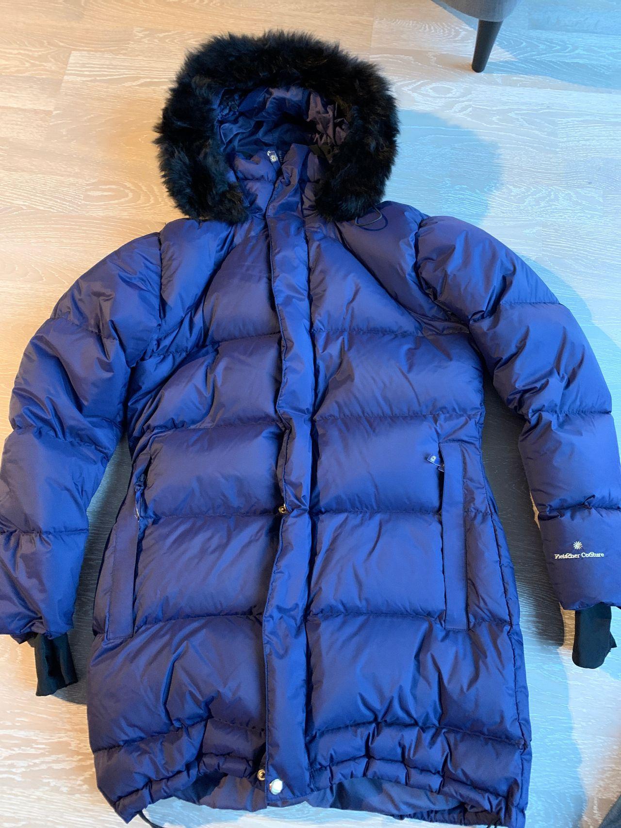 Fleischer Couture blå dunjakke   FINN.no