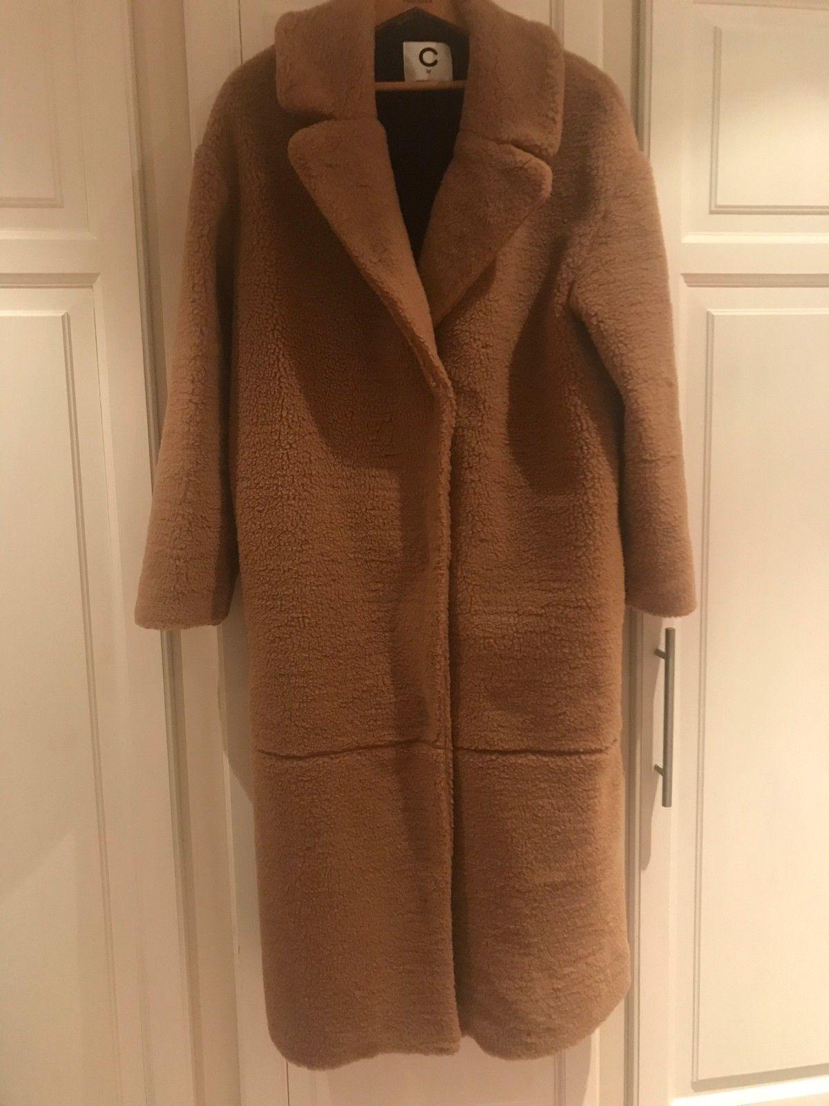 Lang Teddy jakke lys brun | FINN.no