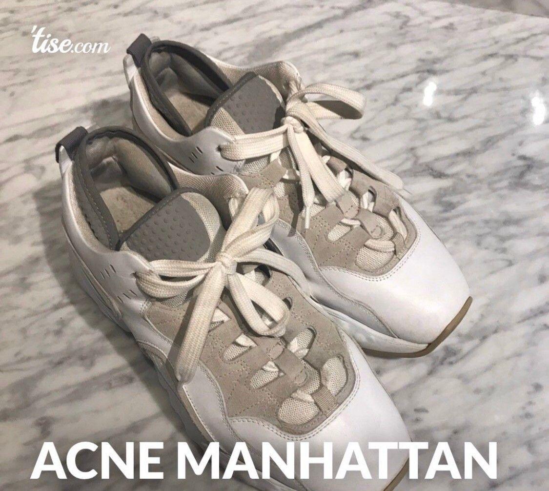 Acne Studios Manhattan Nappa WhiteWhite Sneakers str 39