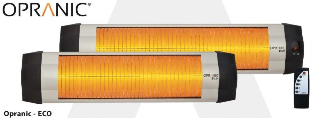 Opranic Eco 1400 Watt Infrarød terrassevarmer med termostat