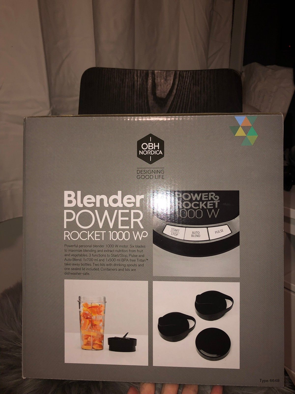 UÅPNET OBH NORDICA POWER ROCKET BLENDER 6648  d3bfa68067cd6