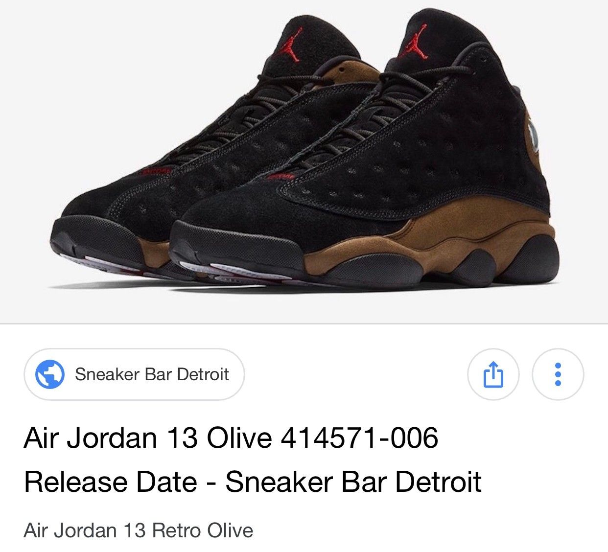 480bd7f7b6bc Nike Air Jordan 13 Retro «Olive» str 40