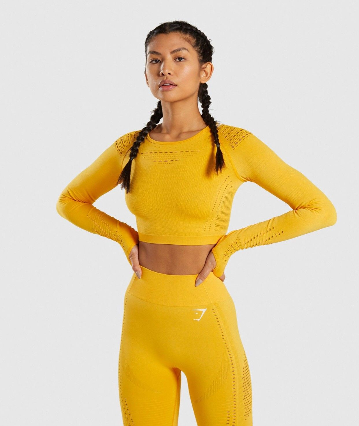 ff5e10ade4727 Gymshark flawless knit crop top i citrus yellow