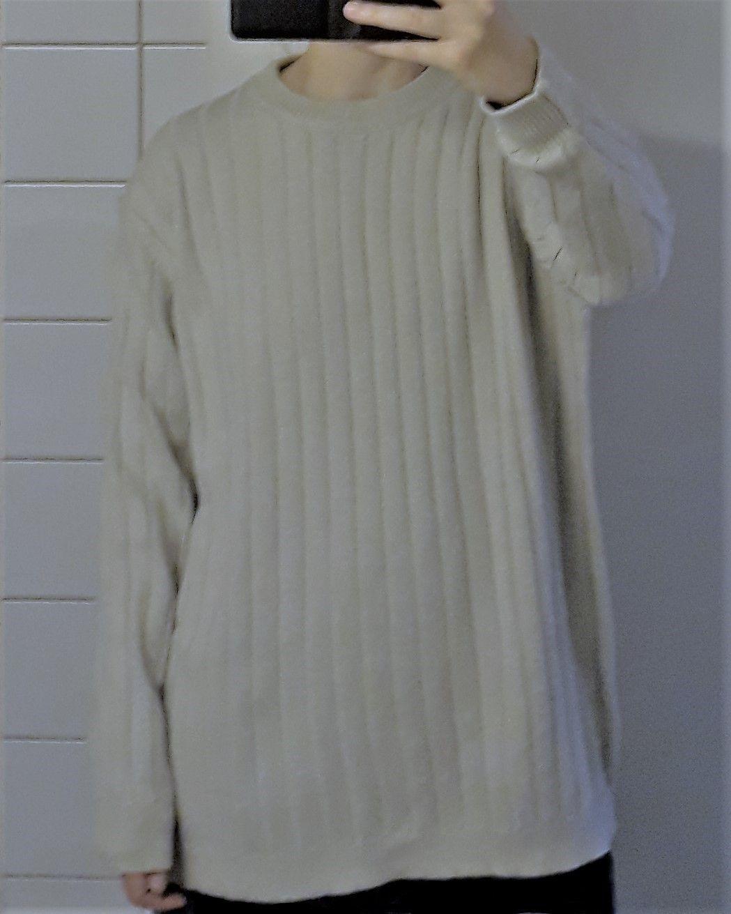 d0d455831 Beige hvit strikkegenser oversize genser langermet | FINN.no
