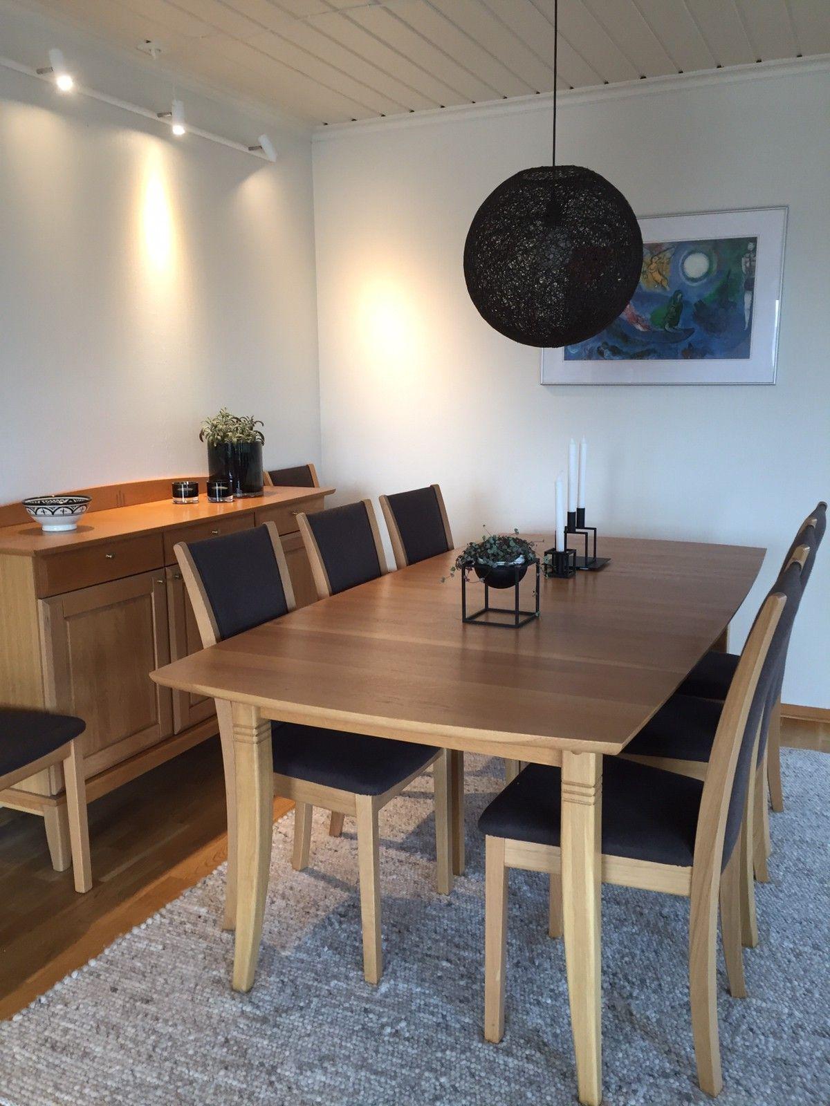 Spisebord i heltre eik | FINN.no