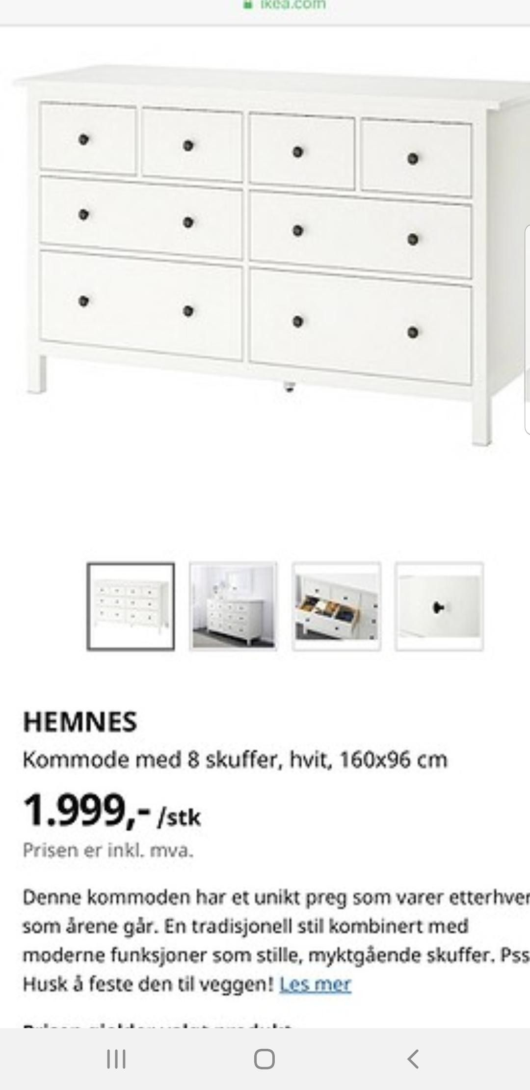 IKEA Hemnes Kommode   FINN.no