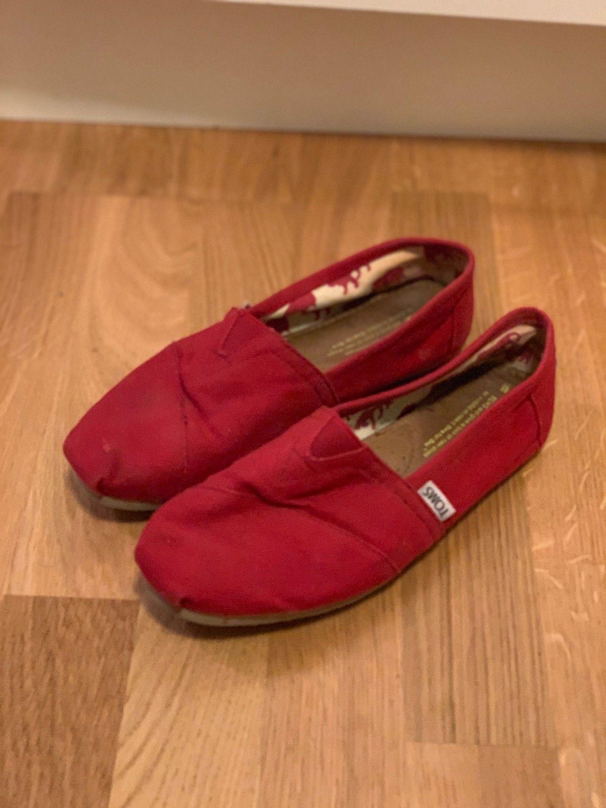 Røde Toms sko str 37 | FINN.no