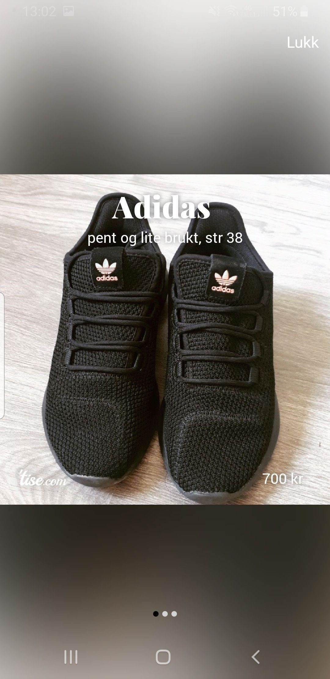 Adidas sko str 38. Halv pris, kun brukt 3 ganger | FINN.no