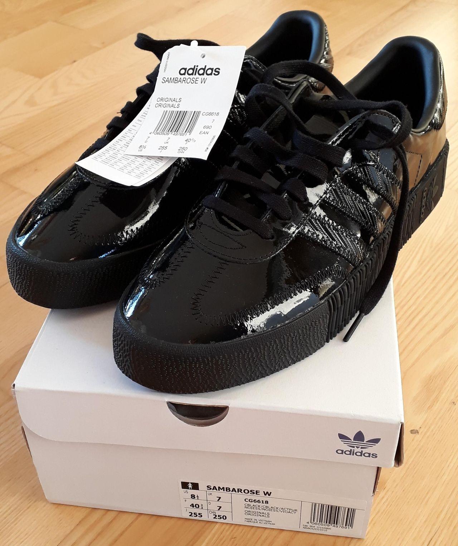 ADIDAS SAMBA SAMBAROSE originals sneakers triple black