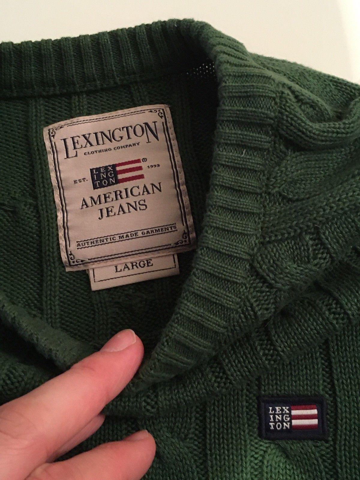 Lexington kabelstrikk genser L | FINN.no