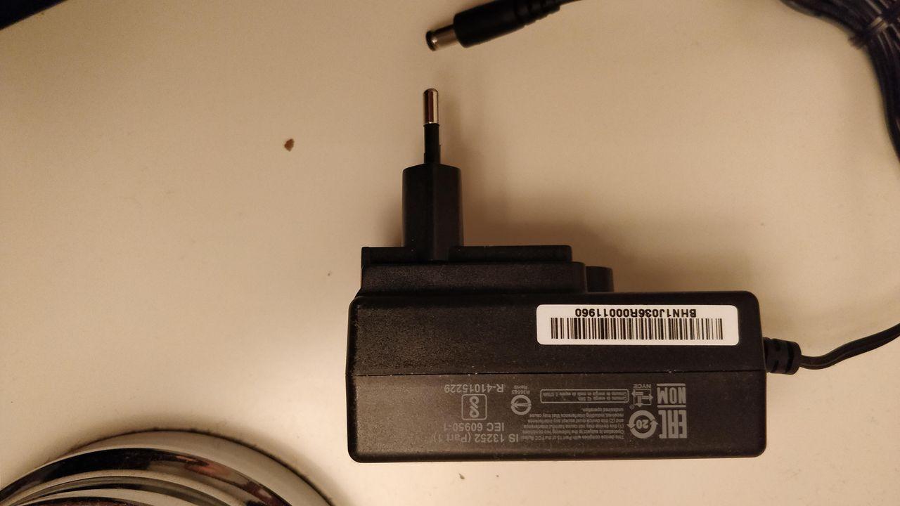12V Strømforsyning (Fast støpsel 5,5mm) 1,5 Amp