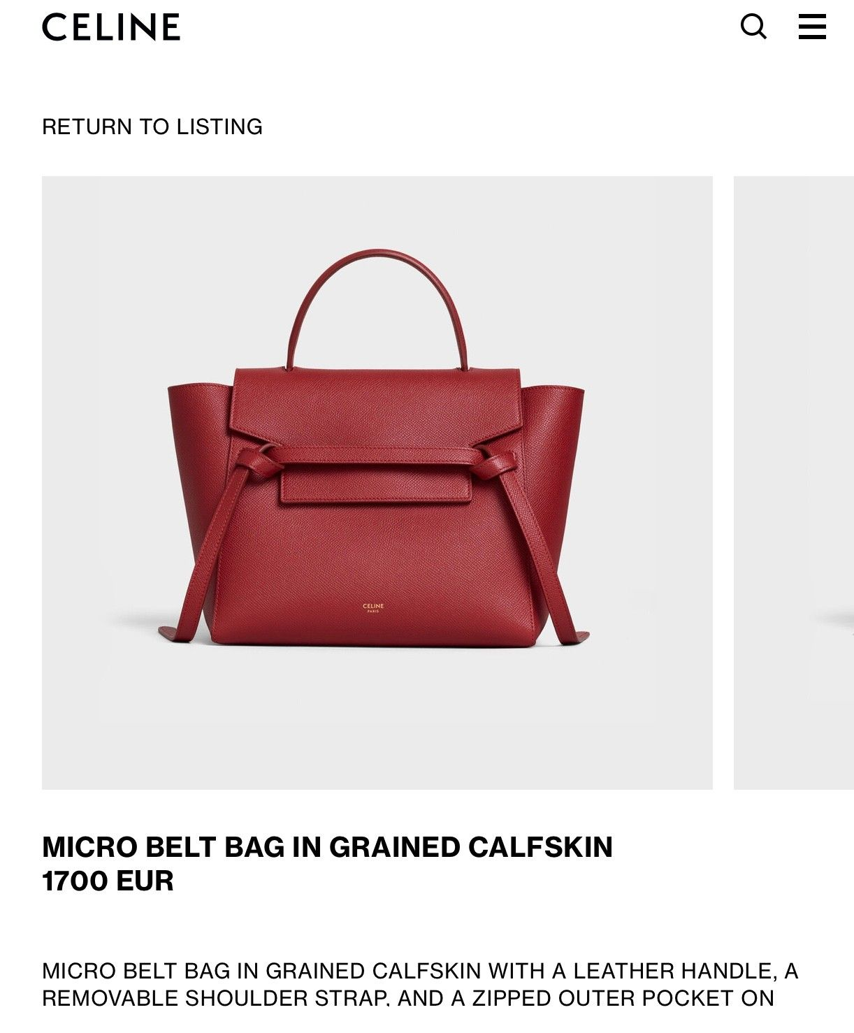 Celine Belt Bag | FINN.no