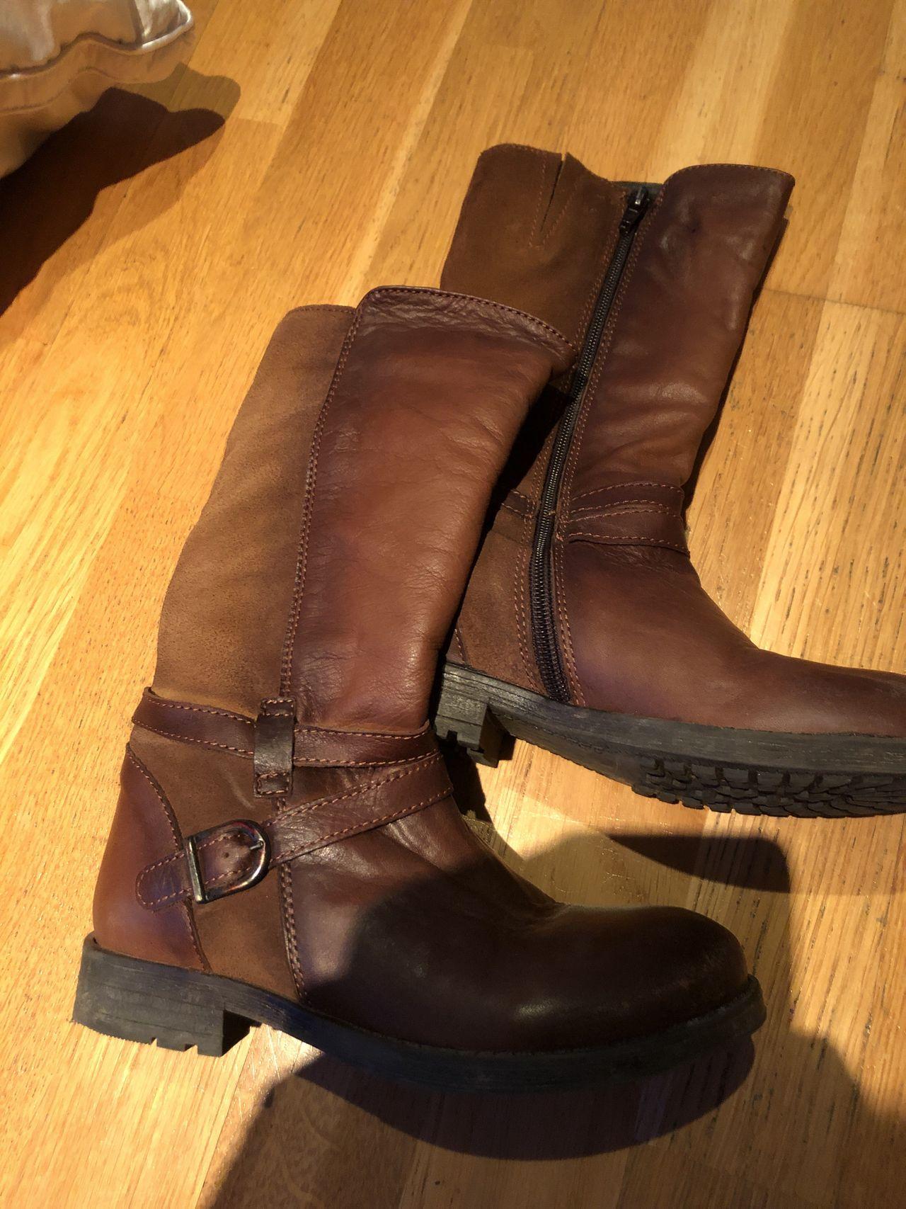 Utrolig kule vintage støvletter i skinn Epla