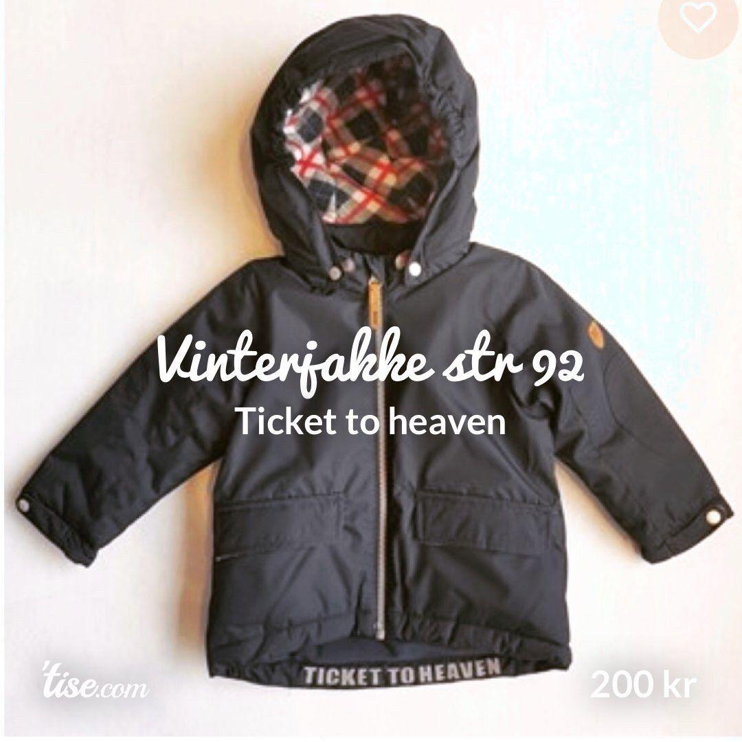 Vinterjakke Ticket to Heaven. Som ny!! | FINN.no