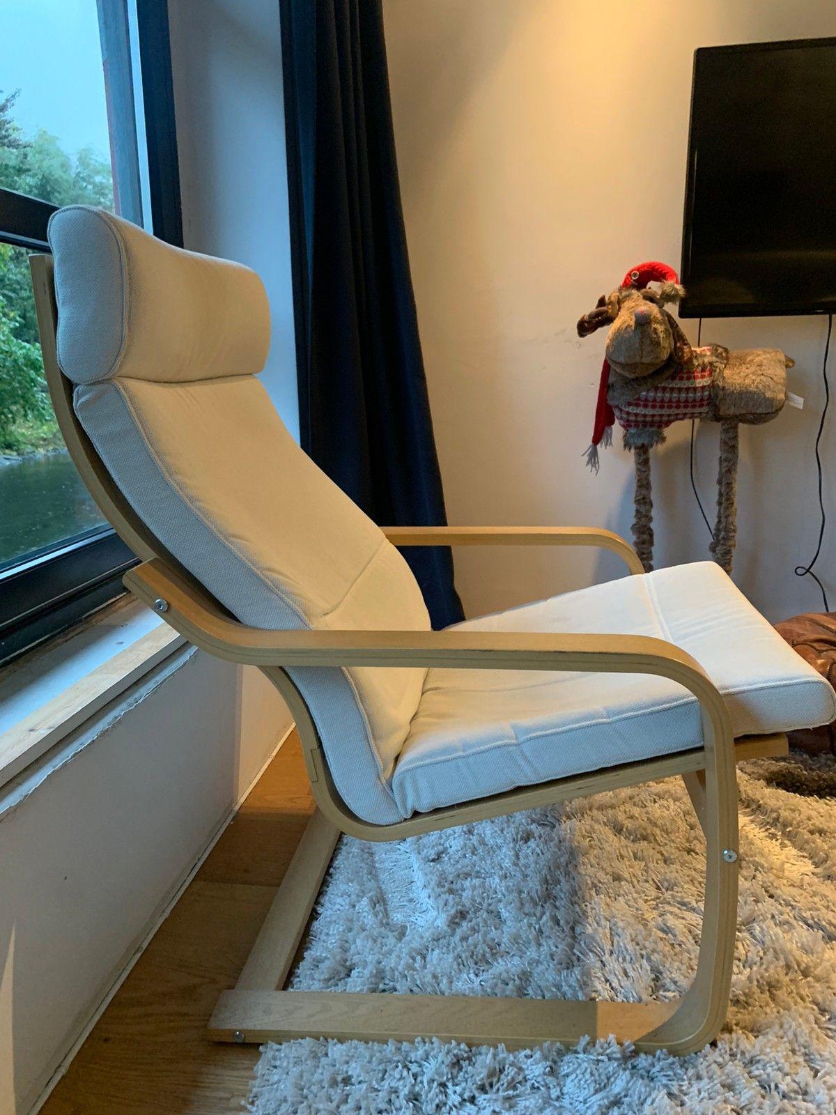 Hvit ikea poang stol | FINN.no