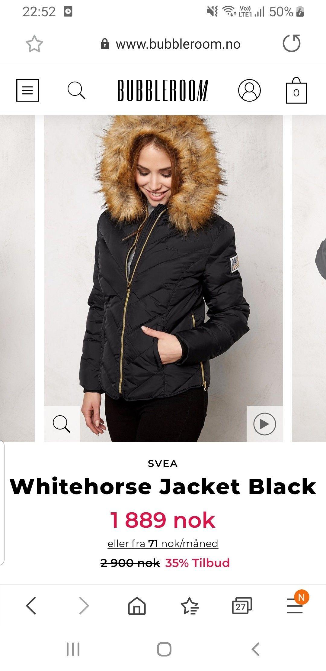 Svea Whitehorse Jacket Black Bubbleroom
