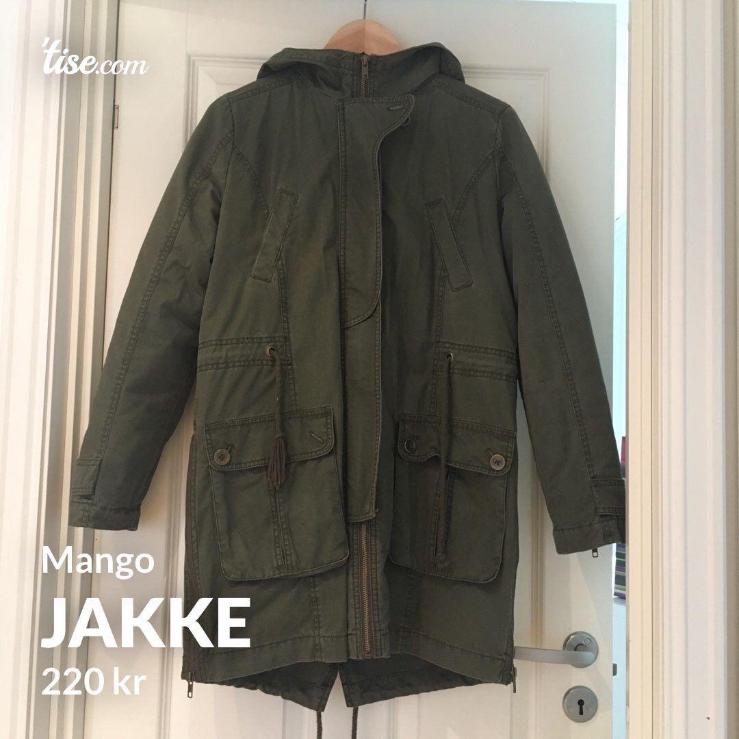 Jakke H&M med 4 lommer bomull grøn army   FINN.no