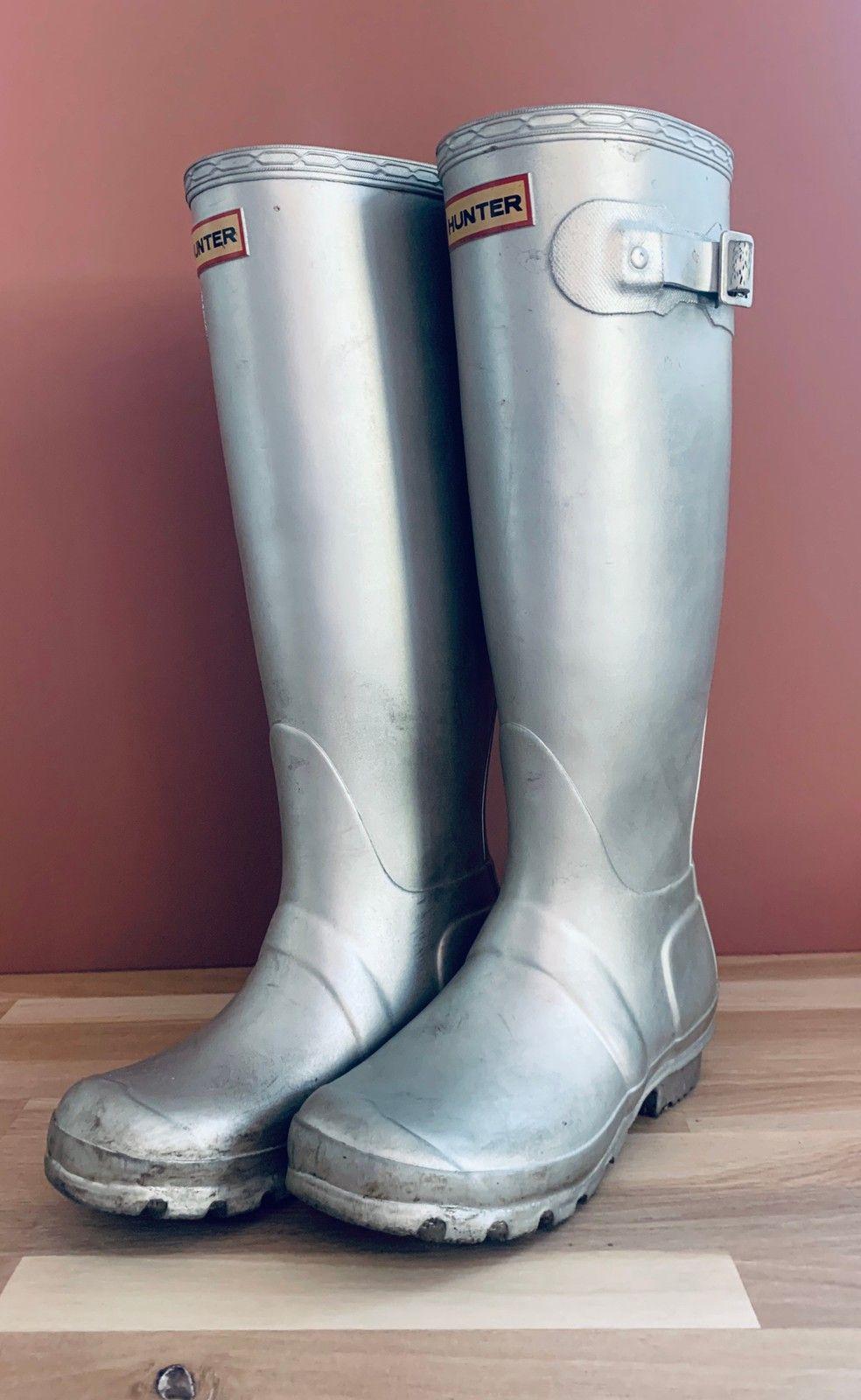 Brukte sølv Hunter støvler | FINN.no