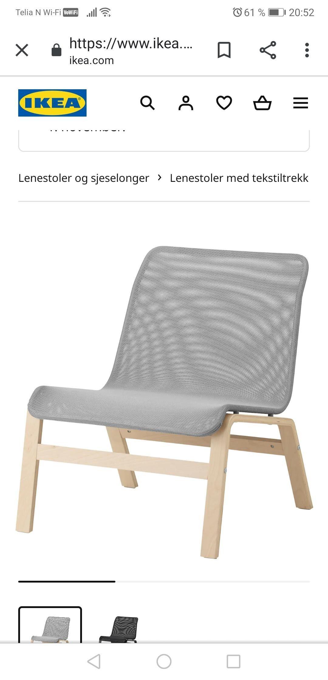 Lenestoler og sjeselonger IKEA