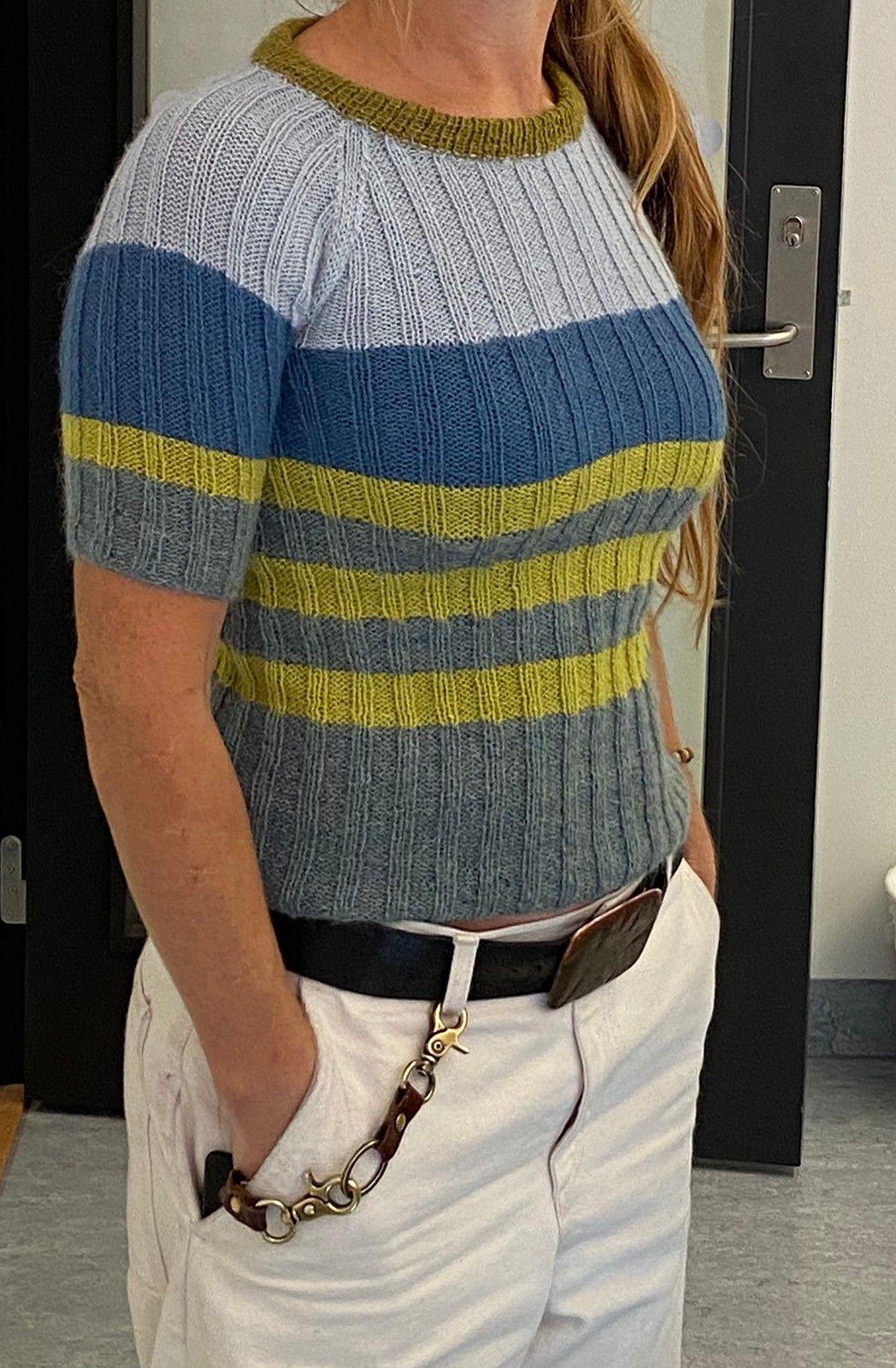 fiona denim genser