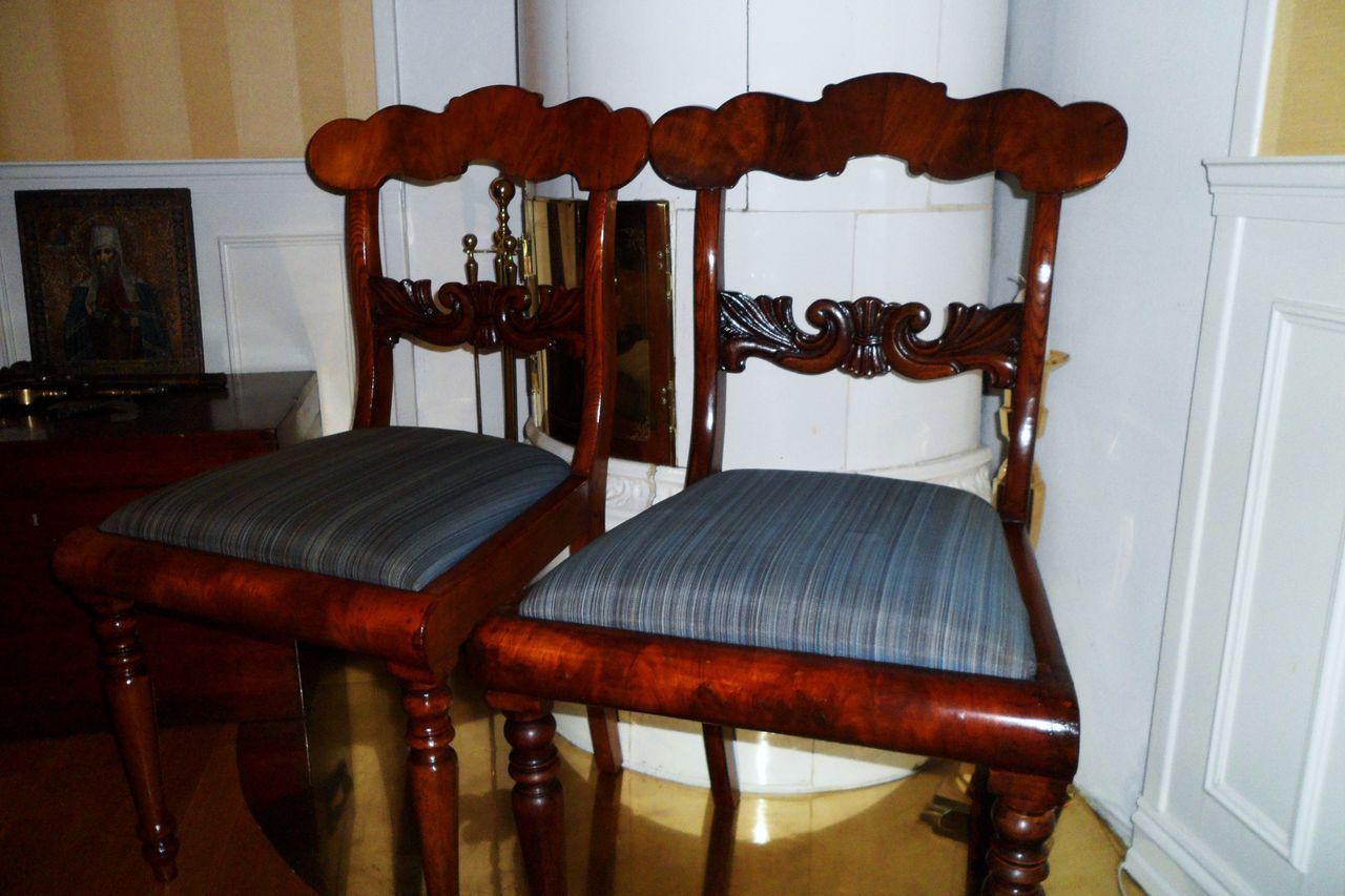 Antikk kontorstol i tre, 1800 tall | FINN.no