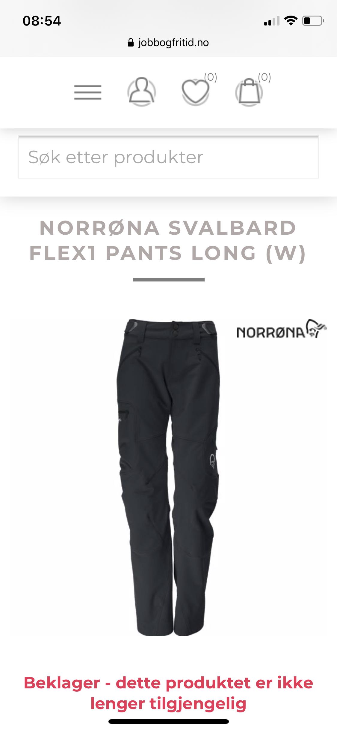 Norrøna Svalbard Flex1 L Ny bukse   FINN.no