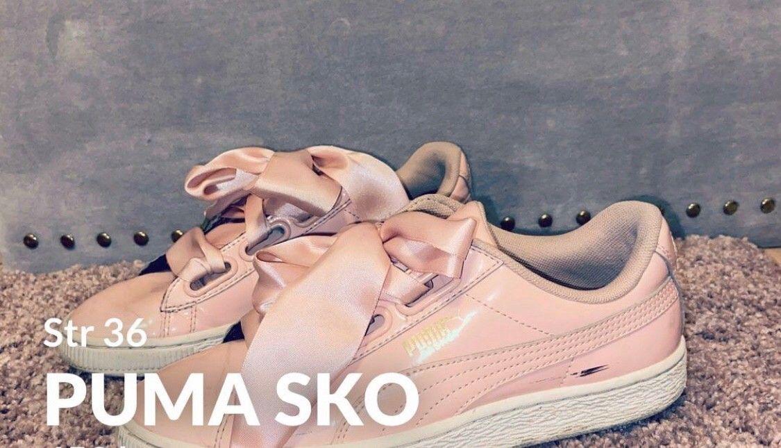 Rosa Puma sko m sløyfe str 36   FINN.no