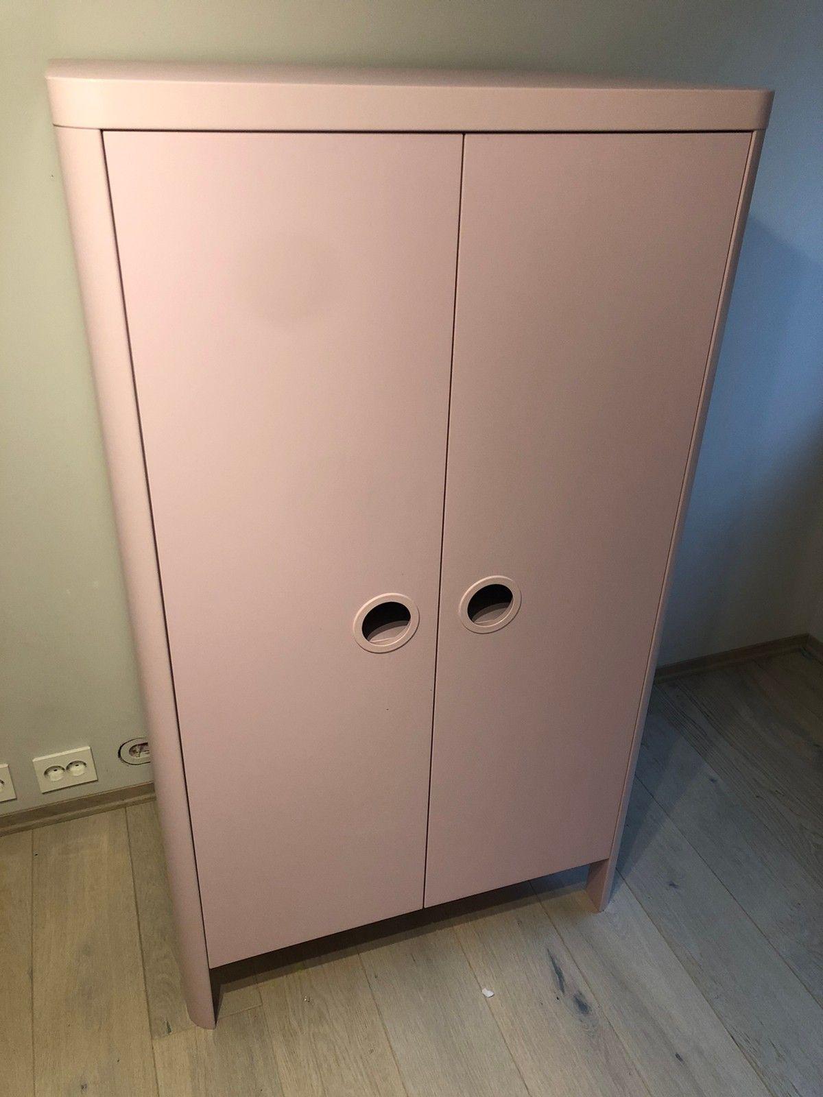 Rosa garderobeskap fra IKEA til barn | FINN.no