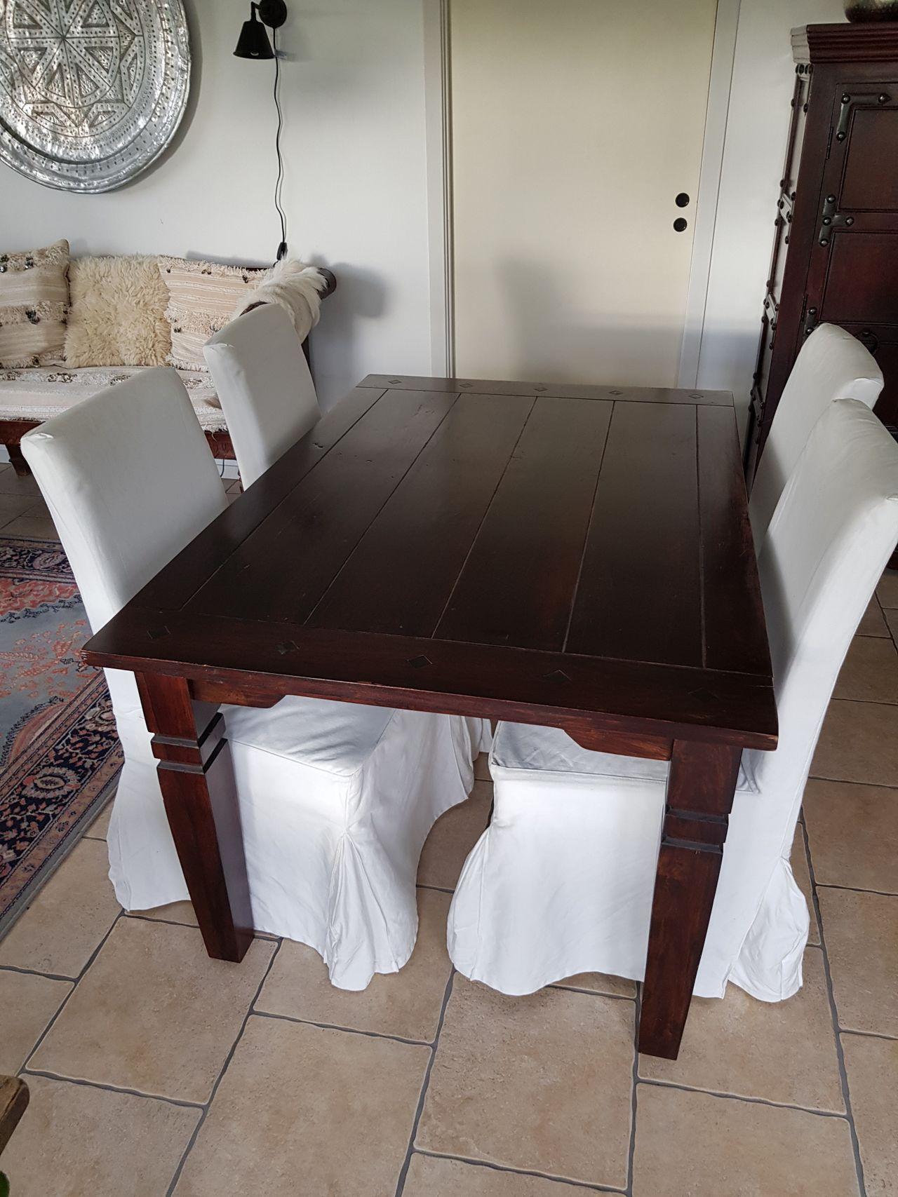 Bombay Spisebord Med 6 Skinn Imiterte Stoler Finn No