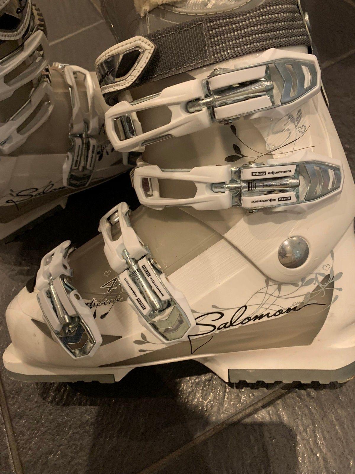 Veldig lite brukt Salomon XFIT Alpinstøvler str 25,5   FINN.no