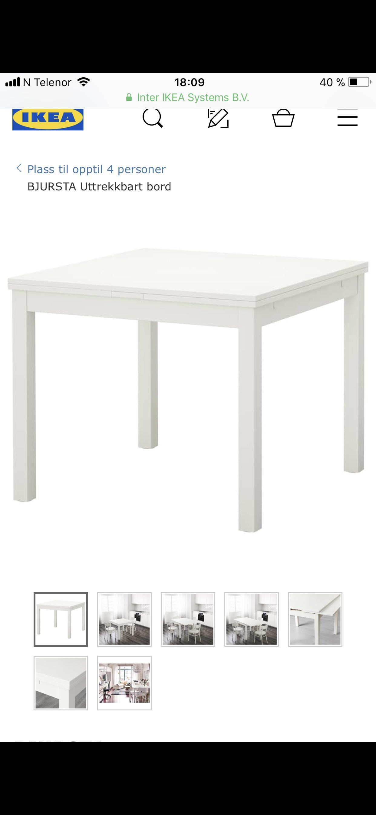 Uttrekkbart spisebord | Finn ditt flotte spisebord med